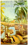 Poster  The Far East By Shipping  Courier  Circa 1935  A . Herviault