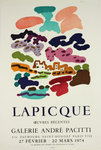 Poster   Lapicque Charles Gallery  Pacitti  27 Fevrier /20 Mars 1974