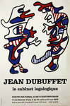 Poster Dubuffet Jean   Le Cabinet Logologique  National  Contemporary Art Center 1970