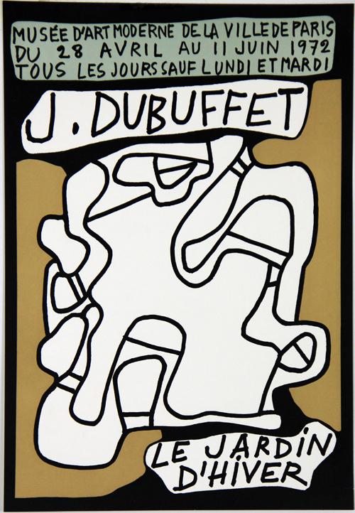 Affiche Jean Dubuffet Le Jardin D Hiver Musee D Art Moderne De Paris