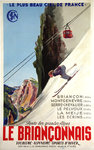 Poster  Le Brianconnais The Most Beautiful Sky France SNCF  JR Poissonnie 1938