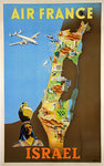 Affiche   Air France   Israel  Renluc  1951