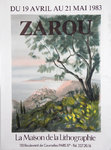 Poster  Zarou   The House of Lithography  1983