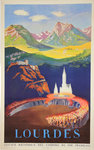 Affiche Lourdes  SNCF 1951   F Berthome JE Andre