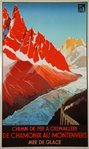 Poster  PLM Chamonix  Mer de Glace Roger Soubie Reedition by Bedos  1982