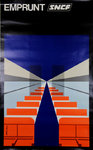 Original Poster French  Railways  SNCF  Emprunt    Jean Colin  1976