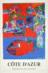 French Railways  Poster  Riviera  Cote D Azur  Bezombes   Roger  1968