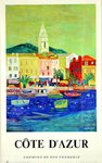French Railways  Poster  Riviera  Cote D Azur  Bezombes   Roger  1966  Sanary
