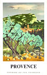 Poster      Provence  French Railways  Brayer Yves 1966