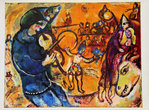 Illustration de Marc Chagall  Le Cirque D'Izis  1965