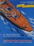 Affiche  American Export  Lines   SS Independence  SS  Constitution  Georges Renevey  Cica 1950