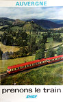 French Railways Poster     Auvergne  Prenons le Train  1974