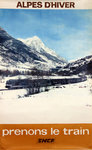 French Railways Poster   Alpes D'Hiver    Prenons le Train  1972