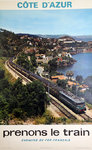 French  Railways  Poster    Cote  D'Azur   Prenons le Train  1970