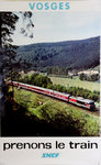 French Railways Poster   Vosges   Prenons le Train   1974