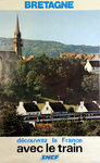 French Railways Poster    Bretagne  Decouvrez la France Avec le Train  1977