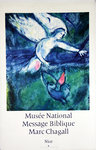 Affiche  Chagall Marc      Message Biblique  Musee National  Circa 1970