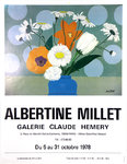 Poster    Millet Albertine    Claude Hemery  Gallery   October 1978