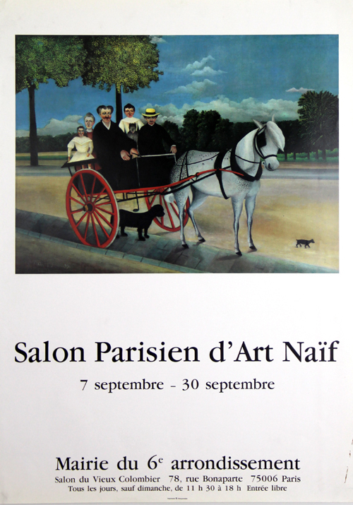 Affiche rousseau henri le douanier salon parisien d 39 art - Salon parisien ...