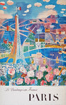 Affiche  Paris   Dufy Raoul   Le Printemps en France    1966