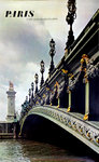 Affiche    Paris   Pont Alexandre III     Photo Hinous  1968