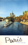 Affiche   Paris    La seine et Notre Dame    Photo Ph Fronval  1960