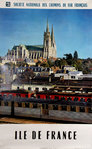 French Railways Poster     Ile de France  Chartres   Photo Mazo   1962