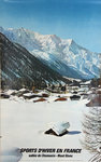 Affiche   Chamonix Mont Blanc    Sports D'Hiver  en France     Photo Gay Coutet   1976