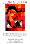 Affiche   Gischia Leon   Galerie D'Art International   Juin Aout 1988