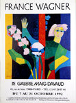 Affiche Wagner  France  Galerie Maig  Davaud   Octobre 1992