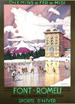 Poster  Font Romeu   Winter Sports   Pyrenees  Orientales Tony George Roux  1923