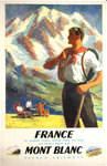 Poster   Mont Blanc  France  Chamonix Valley   French Railways     Anonymous  1948