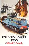 Poster  Emprunt French Railways  Souscrivez   1955  Brenet