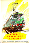 French Railways Poster   Vitesse Exactitude Confort     Brenet Albert 1960