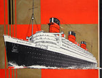 Affiche Cunard White Star  Queen Mary II   Jarvis  1936