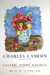 Affiche Camoin    Charles  Anemones  Galerie Andre Maurice  1956