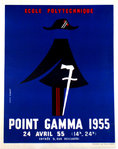 Poster  Ecole Polytechnique  Point Gamma  Gibert  Louis April  24 1955