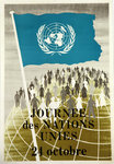 Affiche  Journee des Nations Unies   24 Octobre  Circa 1950/1960
