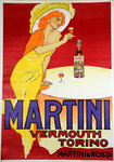 Poster  Martini   Vermouth  Torino  San Marco   Reedition 1960