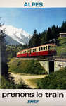 French Railways Poster   Alpes   1966