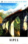 French Railways Poster   Alpes   1960