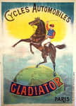 PosterGladiator  Cycles Automobiles  Vigneres  1900