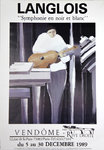 Poster   Langlois   Vendome   Gallery   Rive Droite  1989