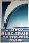 Poster   A New Blue Train To The Cote D'Azur  Plm  P Zenobel  1987