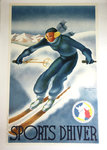 Poster  Sports D'Hiver  Georges Arou  Plm  1987