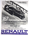 Affiche Renault   A  Montlhery      1934