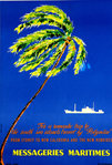 Poster    Messageries Maritimes  Polynesie  C M  Perrot  Circa 1950