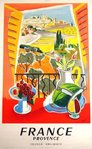 Affiche   France  Provence   French Railways   Jal   1952