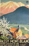 Affiche  Passy  Mont Blanc  Roger Broders  PLM   1932