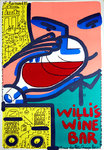 Affiche Willis  Wine  Bar  Boisrond  Francois  1985